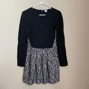 Aritzia Wilfred Black Dress with Lace Skirt